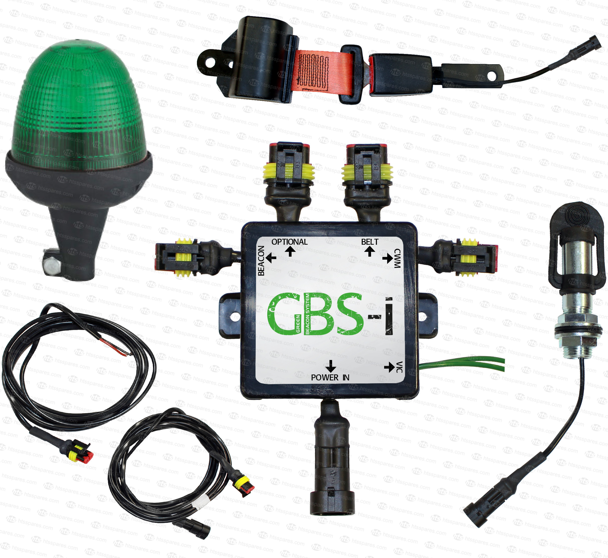 safety warning belt kit with green beacon \u0026 switched lap belt Naza Wiring Diagram gbs i green beacon system