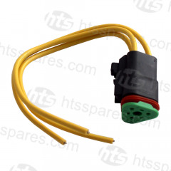 JCB STYLE 3 PIN HEADLAMP TRIANGLE SOCKET AND CABLE ASSEMBLY (HEL0421)