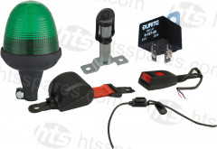 green led beacon seat belt kit - flex beacon & surface mount spigot  (hel1192)