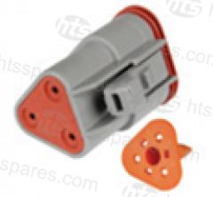 HEL2875 3 Pin Deutsch Socket