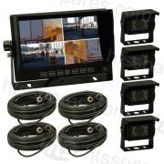 """7"""" Quad Reversing 4 Camera Kit (HEL3000)"""