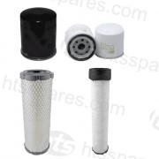 JCB 1T Dumper Filter Kit - 500Hr (1 X Oil, 1 X Fuel, 2 X Air) (HFK0129)