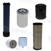 JCB 3 Tonne Filter Kit - 1000Hr (1 X Oil, 2X Air, 1 X Fuel, 1 X Hydraulic) (HFK0379)