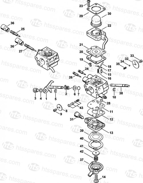 Stihl HT131 Carburettor C1Q-S173 Parts | Stihl HT101 & HT131 Pole ...