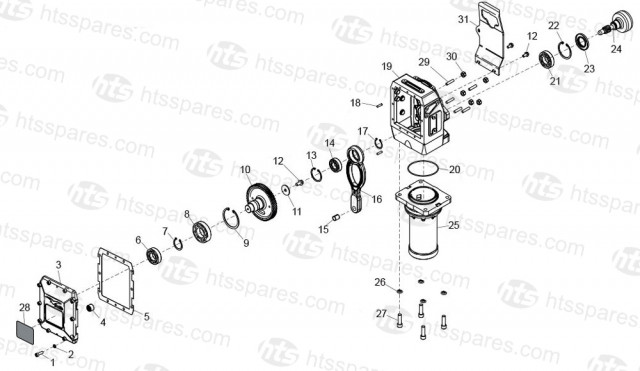 Belle RTX 66, 68, 74 & 80D Gearbox
