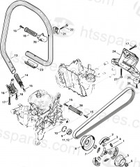 Stihl TS420 disc cutter Parts
