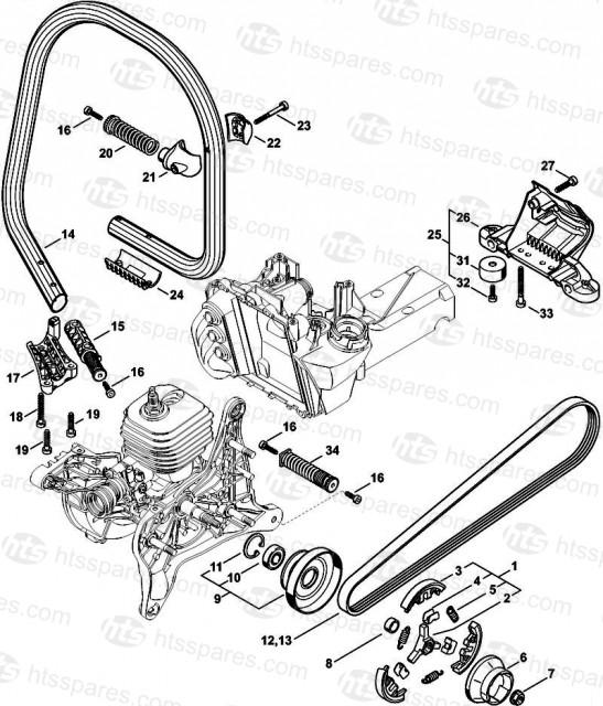 Stihl TS480i Clutch & Handlerbar
