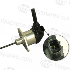 KUBOTA FUEL SHUT OFF SOLENOID - 2 PIN AUTOMOTIVE TYPE CONNECTOR - LONG PIN TYPE