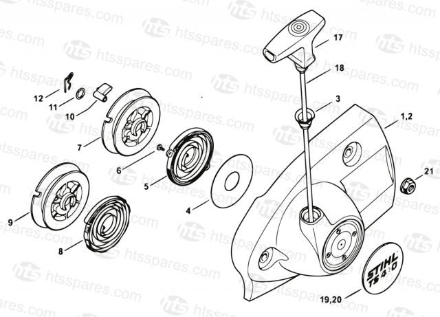 Stihl TS410 Recoil Starter Parts