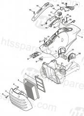 stihl ts410 air filter, shroud parts