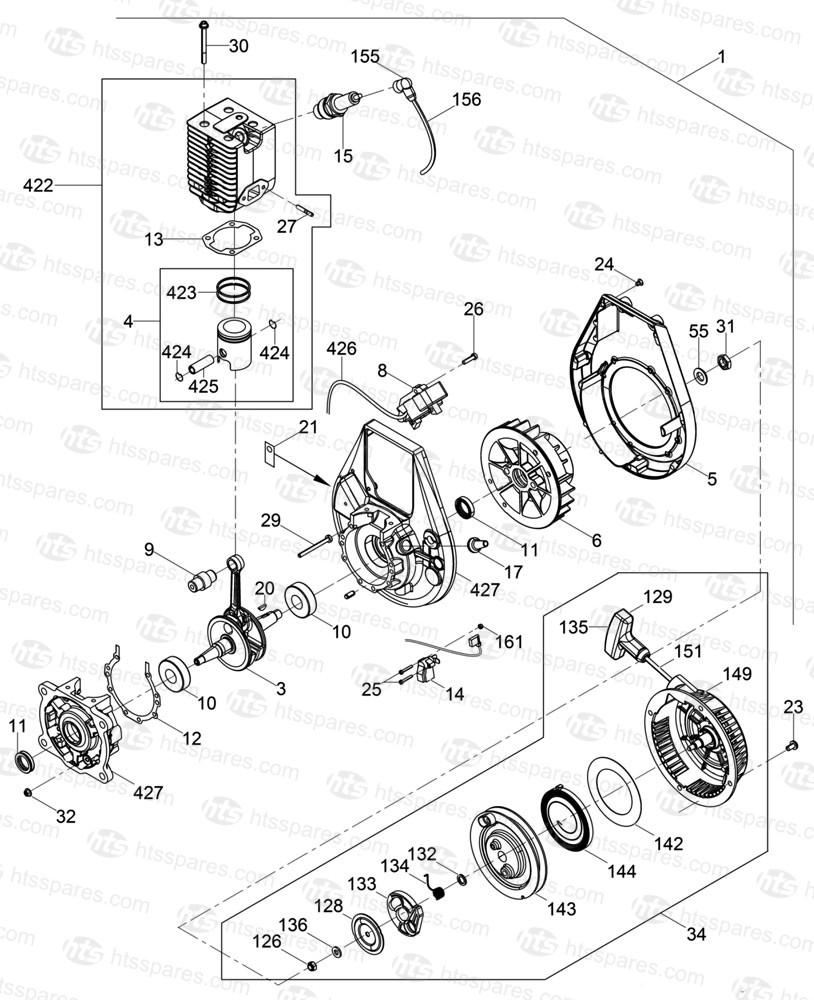 gmc 6 engine diagram wiring library 04 GMC Envoy 5 3 Location of Knock Sensor wacker bs50 2 wm80 engine wacker bs50 2 rammer rh htsspares 6 oiling system