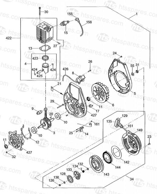 Wacker BS60 2 WM80 Engine