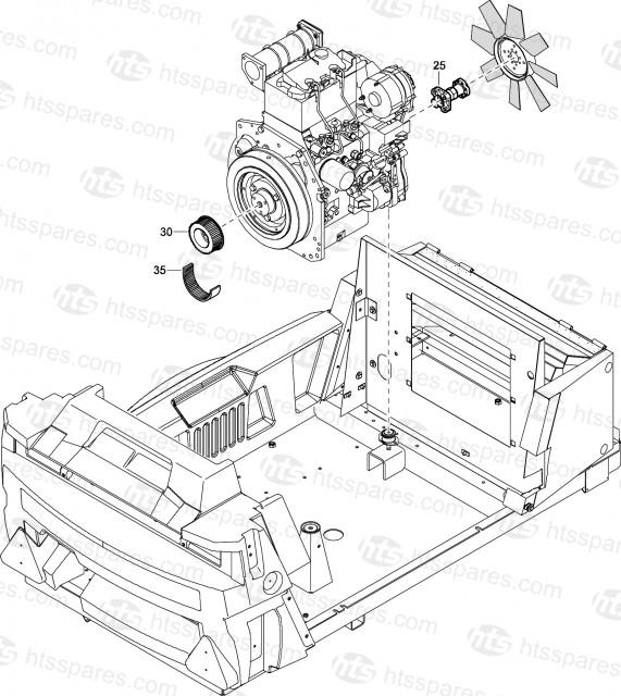 XAS47Dd(G) Fan Adaptor & Pulley For Compressor With