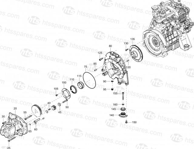 XAS68KD Compressor Drive 1611710731-07 | XAS68KD Mechanical