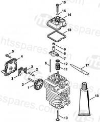 Stihl FS90 Brushcutter Parts