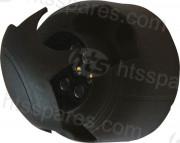 PLASTIC 7 PIN TRAILER SOCKET (HEL0128)