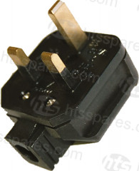 RUBBER HOUSEHOLD 13AMP PLUG (HEL0170)