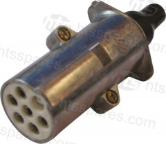 ALUMINIUM 7 PIN TRAILER PLUG 24V (HEL0330)
