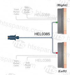 PRIMARY INPUT WIRING HARNESS FOR HEL0386 (HEL0385)