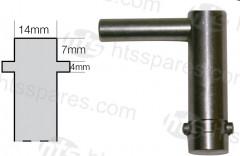JCB ISOLATOR KEY (key only) (HEL0429)