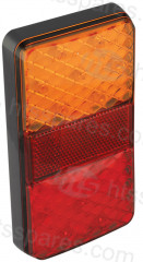 LED RECTANGULAR 4 FUNCTION LAMP C/W REFLECTOR (HEL0692)