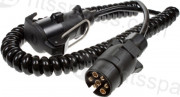 CURLY TRAILER EXTENSION CABLE MALE/FEMALE - 2.5 METRES (HEL0767)