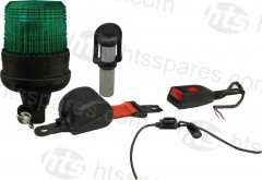 GREEN BEACON/BELT KIT - FLEXI DIN BEACON & WELD ON SPIGOT (HEL1101)