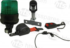 GREEN BEACON SEAT BELT KIT - FLEXI DIN BEACON & SIDE MOUNT SPIGOT (HEL1102)