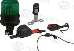 GREEN BEACON SEAT BELT KIT - FLEXI BEACON & SURFACE MOUNT SPIGOT (HEL1103)