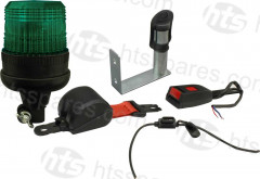 GREEN BEACON SEAT BELT KIT - FLEXI DIN BEACON & VERTICAL MOUNT SPIGOT (HEL1104)