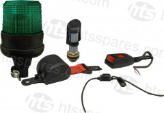 GREEN BEACON SEAT BELT KIT - FLEXI DIN BEACON & BOLT-ON SPIGOT (HEL1105)