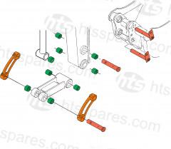 K008-3 DIPPER END KIT C/W SIDE LINKS (HEX1026)