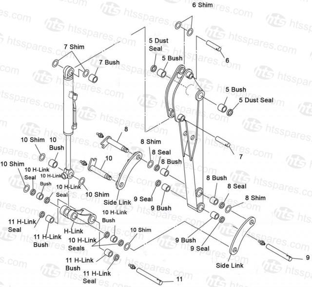 Takeuchi TB014 & TB016 Dipper End Kit