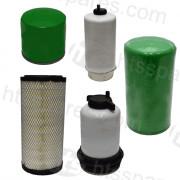 JCB 6/9 Tonne Dumper Filter Kit - 1000Hr (1 X Oil, 2 X Fuel, 2 X Air, 1 X Transmission) (HFK0131)