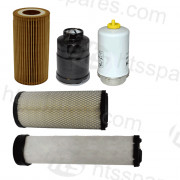 JCB 85 Z1 Filter Kit - 500 Hr (1 X Oil, 2 X Fuel, 2 X Air) (HFK0348)