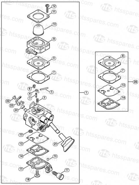 Stihl BG56C-E Carburettor 4241/22