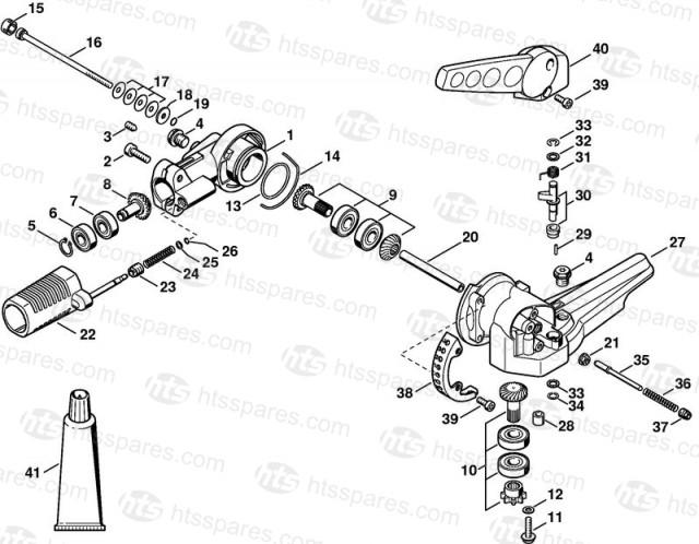 Stihl HL95, HL100 Angle Drive For Adjustable Head 135