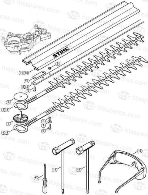 HS45 2-Mix Cutter Bar & Tools - Washer