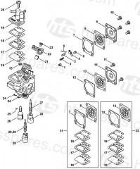 Stihl HS56C-E Hedgtrimmer Parts
