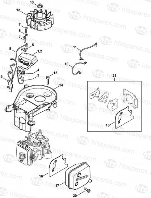 Stihl HS56C-E Ignition System & Muffler Parts   Stihl HS56C
