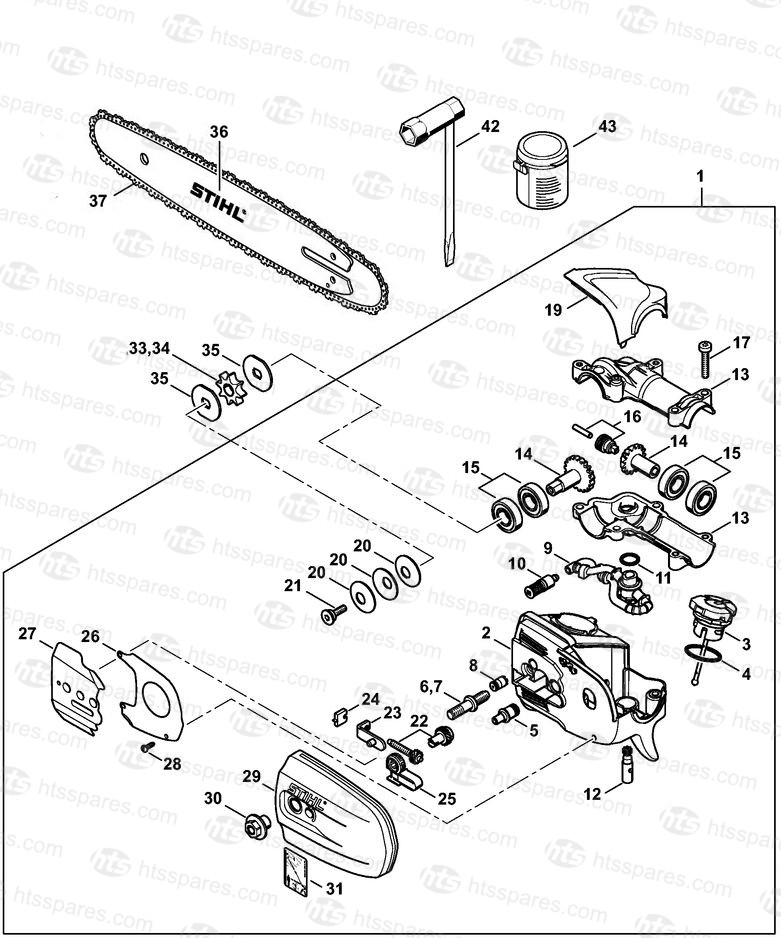 Stihl Ht 131 Pole Saw Parts Diagram - Drivenheisenberg