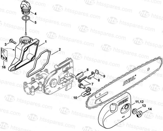 HT101 Oil Tank & Chain Tensioner - Gasket