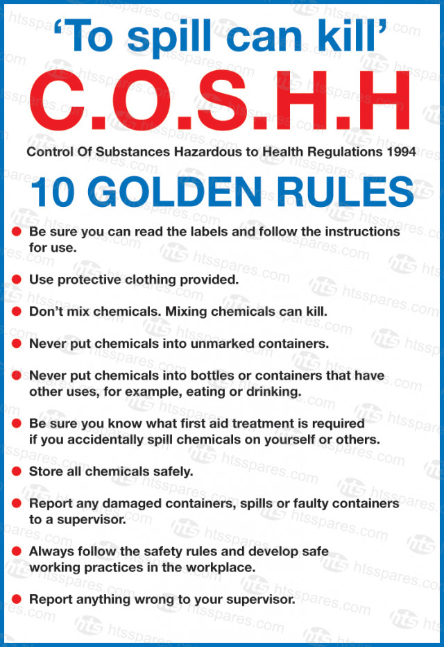 Coshh 10 Golden Rules