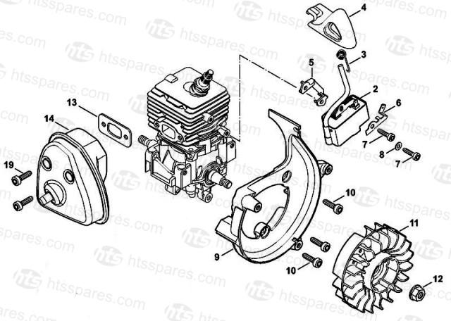 Stihl BG86C E Ignition Muffler Stihl BG86C E Blower Parts
