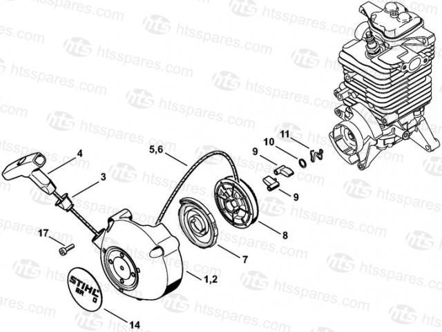 Stihl BR600 Blower Recoil Starter Parts Stihl BR600